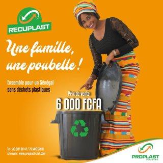 Une famille une poubelle