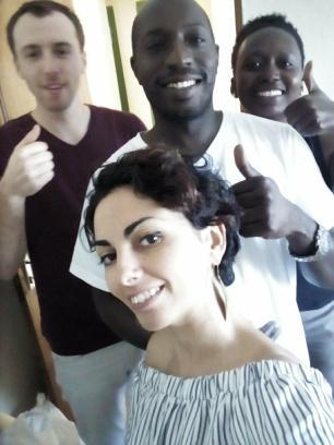 Selfie avec Oumar Yam