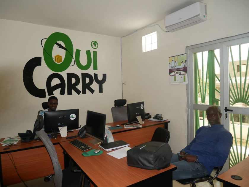 Une partie de l'équipe de Ouicarry à Dakar