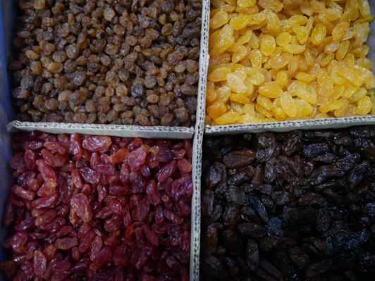 Raisins secs d'Afrique du Sud
